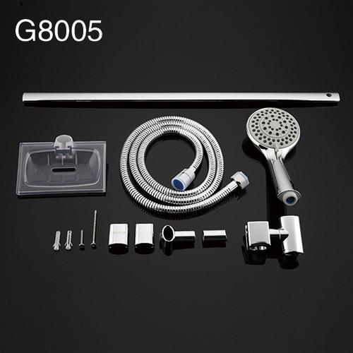GAPPO ванная комната душевая горка из нержавеющей стали ручной душ бар настенное крепление ручной душ набор мыльница держатель опрыскиватель набор душ - Цвет: G8005