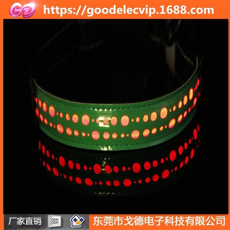 UBS Charging LED Luminous Collar Dog Collar Hide Substance Reflective Neck Ring Pet Light-emitting Supplies