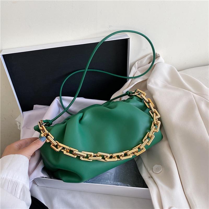Women's Bag 2020 Leather Shoulder Bag Clutches Retro Cloud Pouch Bag Women Totes Bag Luxury Handbags Women Bags Designer Handbag
