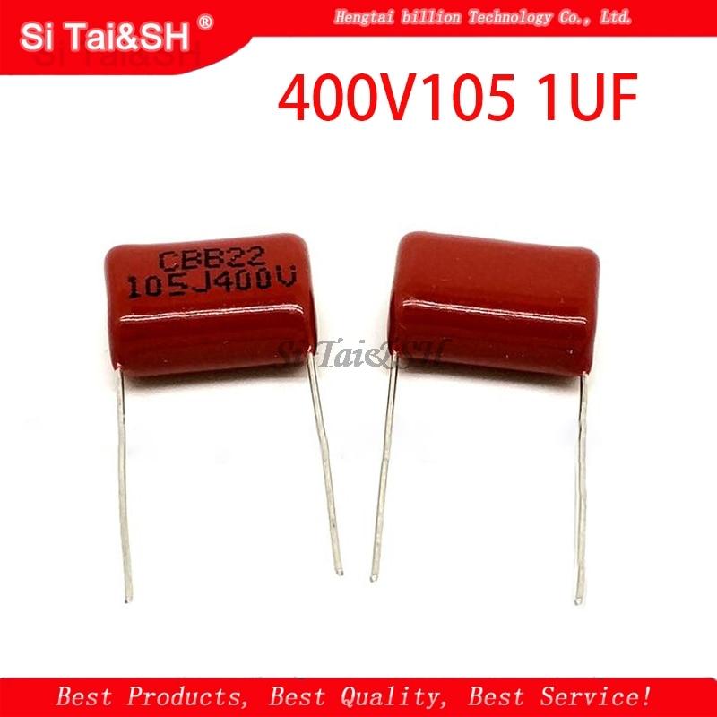 10 шт. 400V105 1 мкмкФ шаг 20 мм 400 в 105 1000NF CBB полипропиленовый пленочный конденсатор