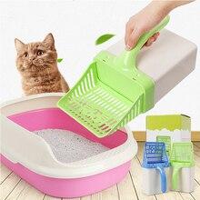 Litter-Shovel Cleaning-Tool Pet-Poop-Bag Cat-Supplies Kitten Plastic Dispenser Puppy