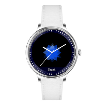 RUNDOING NY12 Stylish women smart watch Round Screen smartwatch for Girl Heart rate monitor compatible For Android and IOS 10