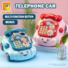Rattles-Piano Drag Baby Puzzle Early-Educational Music with Led-Toy Pull Chrismtas Gifts