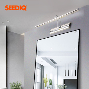 Image 3 - Lampada da parete moderna a specchio da bagno 220v 110V 7W 40cm 9W 55cm lampada da parete a Led in acciaio inossidabile impermeabile con interruttore applique da parete