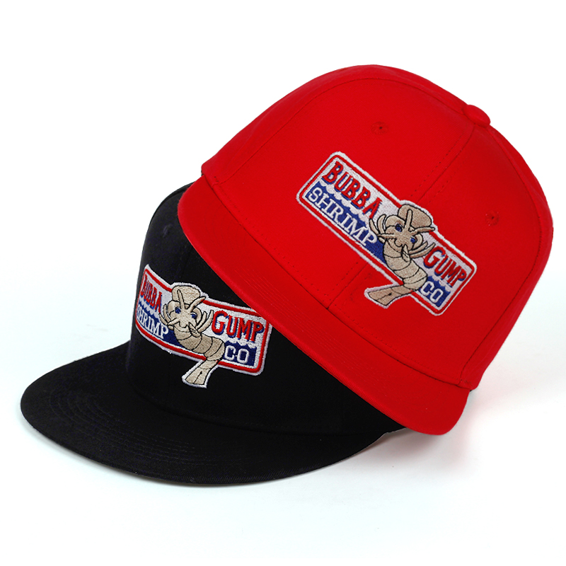 1pcs 1994 Bubba Gump Shrimp CO. Snapback Hat Forrest Gump Costume Cosplay Embroidered Snapback Cap Unisex Summer Cap Adjustable