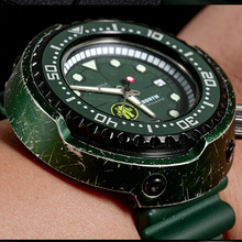 Diver Watch Tuna Cronos NH35A Water-Resistance Green Sapphire Retro 200M Case 6159 Pvd-Coated