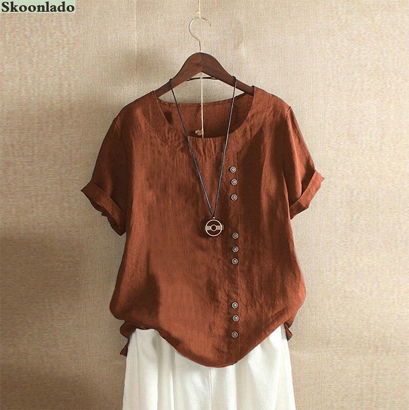 plus size s-5XL newest women cotton linen tops casual lady blouse office working women linen clothes oversize good brand blouse