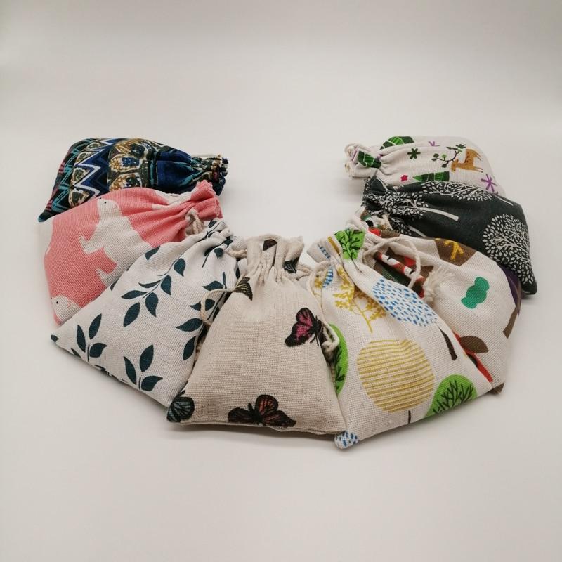 20 штук ткань из натурального джута мешок хлопок спальный мешок с кулиской, из джута мешок ювелирных изделий сумки маленькие мешочки для юве...