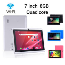 Smart MP4 Speler 7 inch Google Android 4.4 Quad Core Tablet PC 1GB + 8GB Dual Camera Wifi bluetooth Speler GIft For7.26(China)