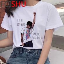 1d uma direção harry estilos linha fina louis tomlinson t camisa feminina plus size streetwear imprimir casal grunge camiseta kawaii