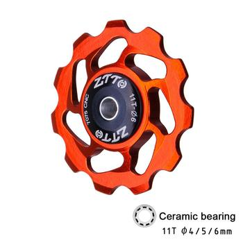 11T MTB Bicycle Rear Derailleur Jockey Wheel Ceramic bearing Pulley AL7075 CNC Road Bike Guide Roller Idler 4mm5mm6mm цена 2017