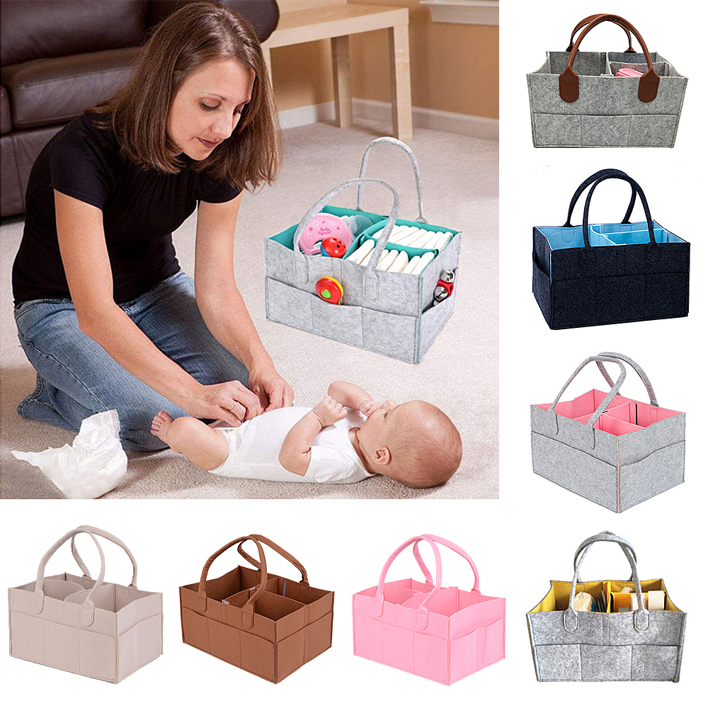 CYSINCOS Portable Baby Diaper Milk Bottle Organizer Nursery And Baby Organizer Basket Foldable Diaper Organizer Travel Mummy Bag