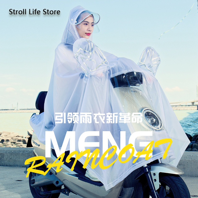 Electric Motorcycle Rain Suit Raincoat Adult Plastic Suit Riding Bicycle Clear Rain Coat Rain Poncho Cover Capa De Chuva Gift