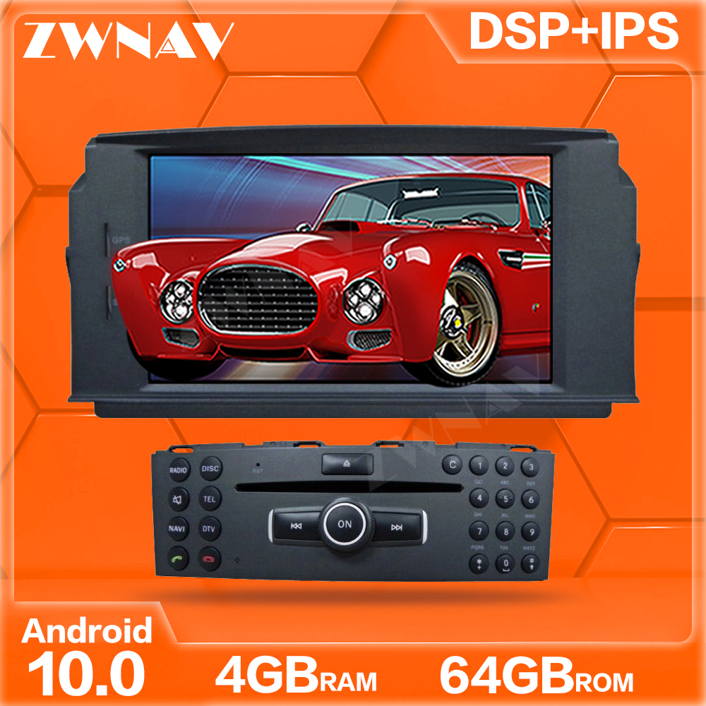 ZWNAV Android10 Auto multimedia DVD-Spieler GPS-<font><b>Radio</b></font> Für Mercedes Benz <font><b>W204</b></font> C200 C180 2007-2010 GPS Navigation Stereo DSP Audio image