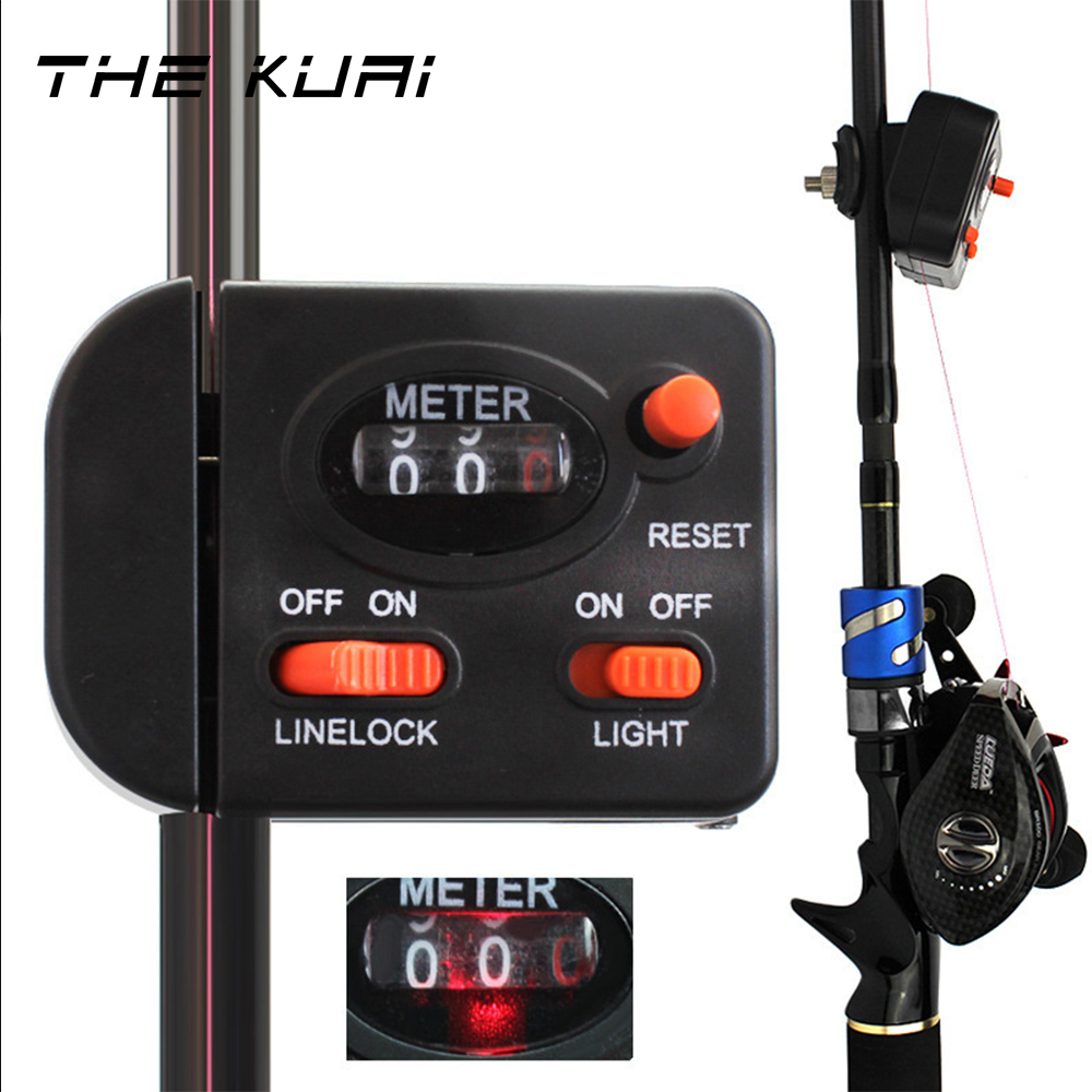 THEKUAI Fishing Line Counter 99.9 M Length Fishing line Depth Finder Electronic Counter Feeder fishing tackle gear accessories|Fishing Tools|   - title=