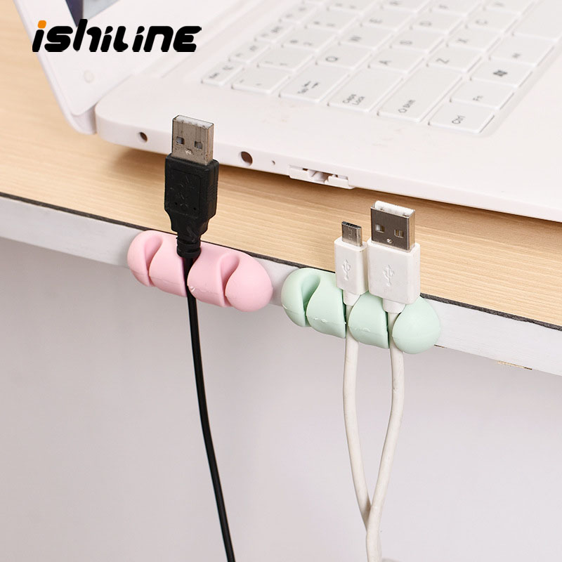 3pcs Data Line Fixed Storage Headphone Wire Wrap Cord Winder Organizer Cable Collector Wire Retainer