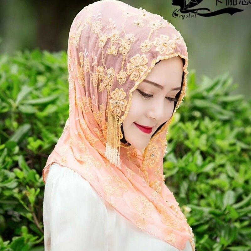 2019 Dubai design haute classique femmes musulmanes mode hijab en soie - 5