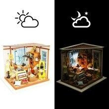 Robotime-casa de muñecas en miniatura para niños y adultos, juguete de casa de muñecas en miniatura, tienda de sastre Lisa con muebles, DG101