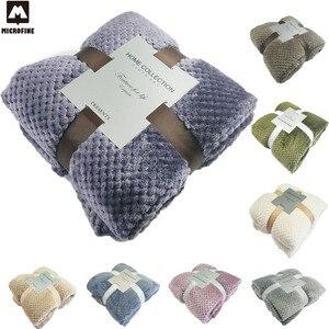 Microfine трикотажное одеяло, утяжеленное Флисовое одеяло с вафельным покрытием, Фланелевое мягкое толстое одеяло для дивана