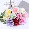 5 шт. 10 см большой искусственный цветок пиона, Высококачественная Шелковая Роза для свадебной вечеринки, украшение для дома, венок «сделай с...