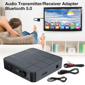 Bluetooth 5.0 Audio Transmitter Receiver Adapter Portable 2 In1 Wireless Audio Transceiver RX/TX Mode For TV Car Computer(China)