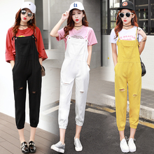 Five Colors Rompers Womens Jumpsuit Spring Autumn Hole Overalls for Women Casual Korean College Style Big Pocket