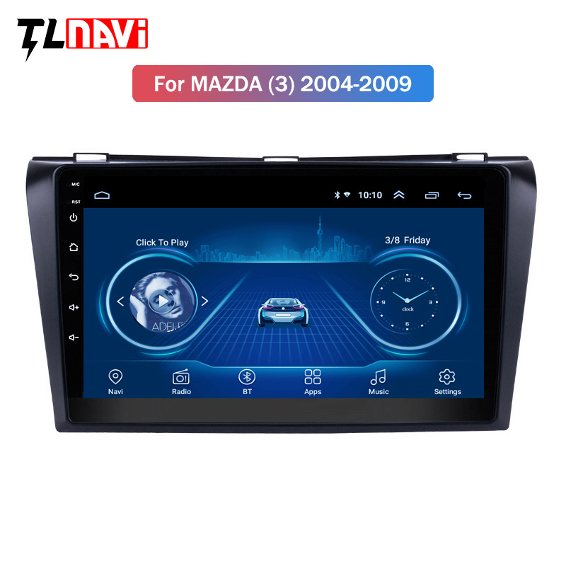 For <font><b>Mazda</b></font> <font><b>3</b></font> 2004-2013 maxx axela android 8.1 Car DVD <font><b>GPS</b></font> Radio Stereo WIFI Free <font><b>MAP</b></font> IPS 2.5D Car Multimedia Player image