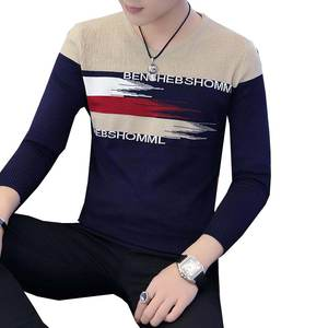 Knitted Sweater Pullover Long-Sleeve Autumn Men Round-Neck Casual Warm Cotton Slim-Top