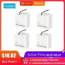 Aqara Two-way Module Smart Setting Timer Zigbee Wireless 2 Channels Relay Controller Works With MI Home Homekit