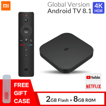 Original Xiaomi Mi TV BOX S Smart 4K Ultra HD 2G 8G Android 8.1 WIFI GoogleCast Netflix Media Player Set top Box 3 Voice Control