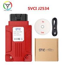 Qualidade original svci j2534 ferramenta de diagnóstico do carro suporte sae j1850 protocolo em linha módulo programação svci j2534 para ford/mazda