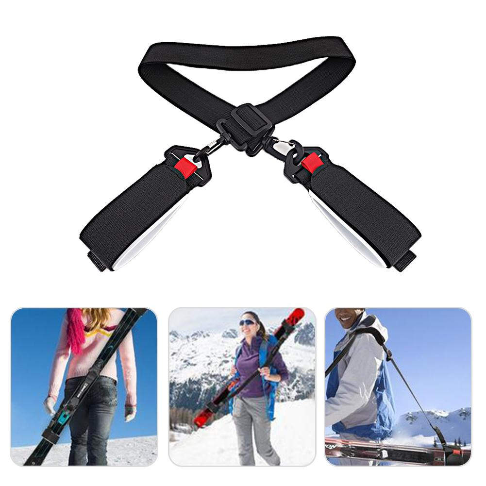 Adjustable Skateboard Ski Strap Bag Handle Strap Snowboard Binding Tie Fastener Sling Braces Bags Snowboard Skiing Accessories