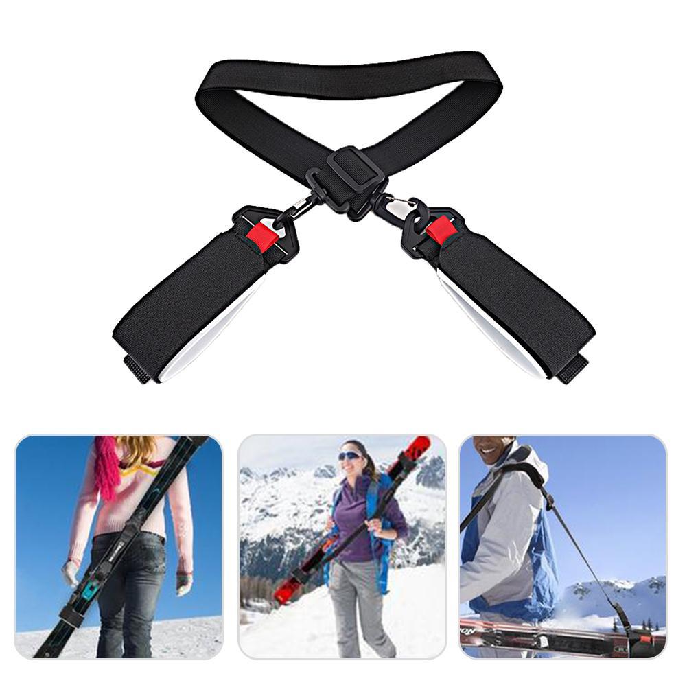 Adjustable Skateboard Ski Strap Bag Handle Strap Snowboard Binding Tie Fastener Sling Braces Bags Snowboard Skiing Accessories
