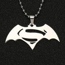 Batman v superman amanhecer da justiça colar super-herói prata cor polido pingente dc comics liga da justiça jóias atacado