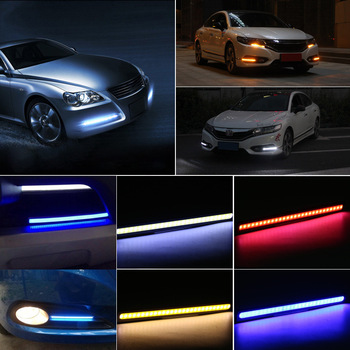 1pc COB LED Car Lamp External Lights Auto Waterproof Car Styling Daytime Driving Fog Lights Vehicle Running Light Car Gadgets