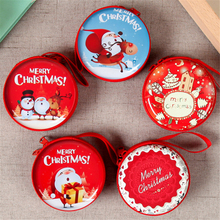 2019 Mini Christmas Small Storage Box Coin Earrings Headphones Candy Gift Party Family Shop Souvenir