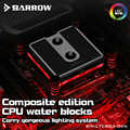Barrow LTCP03-04N, per Intel Lga115x Composito Cpu Blocchi di Acqua, Vestiti da Pom/Barss Top Opzionale, lrc 2.0 5 V 3pin, Microwaterway Blocco