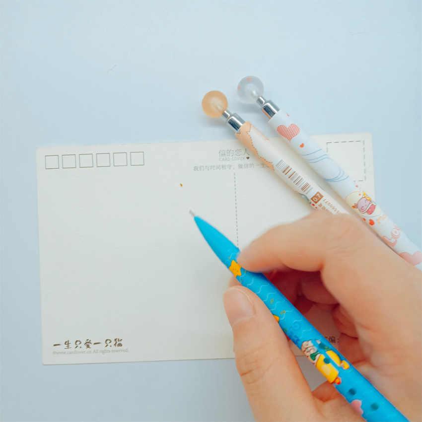 4 pçs/lote Kawaii Dos Desenhos Animados Animais Estudante Lapiseira 0.7 milímetros Bonito Simples Caneta de Escrita Automática Estacionária Presente Do Favor de Partido