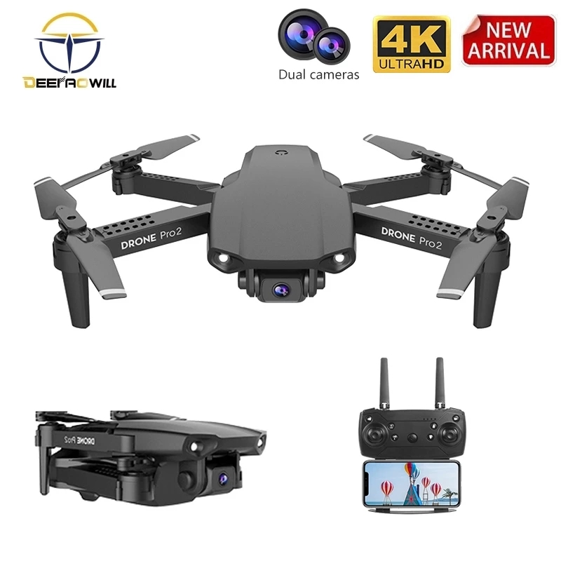 2020 NEW E99 Pro2 Drone 4K HD FPV Wide Angle  Profession  Dual Camera Hight Hold Optical Flow Foldable RC Quadcopter Dron Toys 1