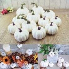 12 шт хэллоуин пена искусственные тыквы DIY искусственные фрукты орнамент моделирование растение для украшения дома для детского сада семейный бар