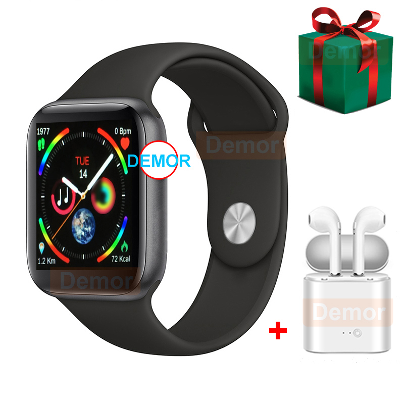 2019 DEMOR IWO 9 Smart Watch GPS Series 4 44mm Heart Rate Monitor Smartwatch For Xiaomi IPhone Huawei Android Phone Headset Gift