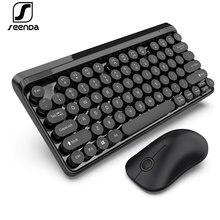 Беспроводная клавиатура и мышь seenda 24g мультимедийная с шоколадными