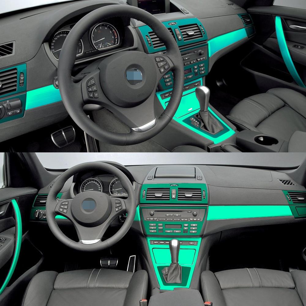 Автомобильный Стайлинг 3D 5D углеродное волокно Автомобильная внутренняя центральная консоль изменение цвета литье наклейки для BMW X3 E83 2006-2010