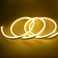 Led de Iluminação de tira de led Neon Luz 220 V tira conduzida 220 v Flexível Fita Fita cinta led do Sinal de Néon luzes de Natal listra Decoração
