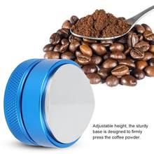 51mm/58mm de aço inoxidável café em pó imprensa tamper distribuidor ferramenta nivelador base café imprensa em pó martelo