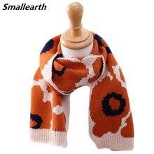 Leopard Scarf Shawl Neck-Warmer Knitted Winter Long Children New Autumn Soft Girls Baby
