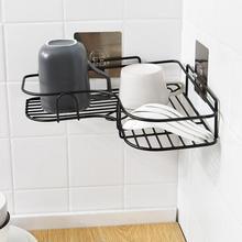 Accesorios de estante de esquina sin punzón de cocina para baño estante de almacenamiento de hierro forjado estante de pared para trípode de cocina estante de suministros de cocina