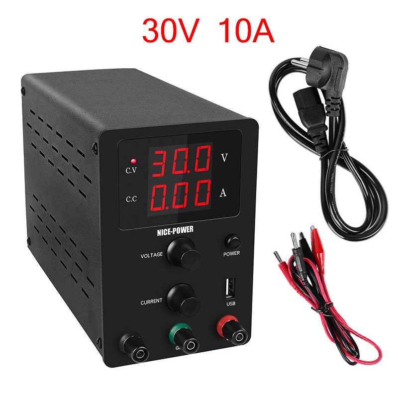 Nouvelle Source d'alimentation de laboratoire USB DC 30V 10A alimentation régulée régulateur de tension réglable stabilisateur Source de banc de commutation