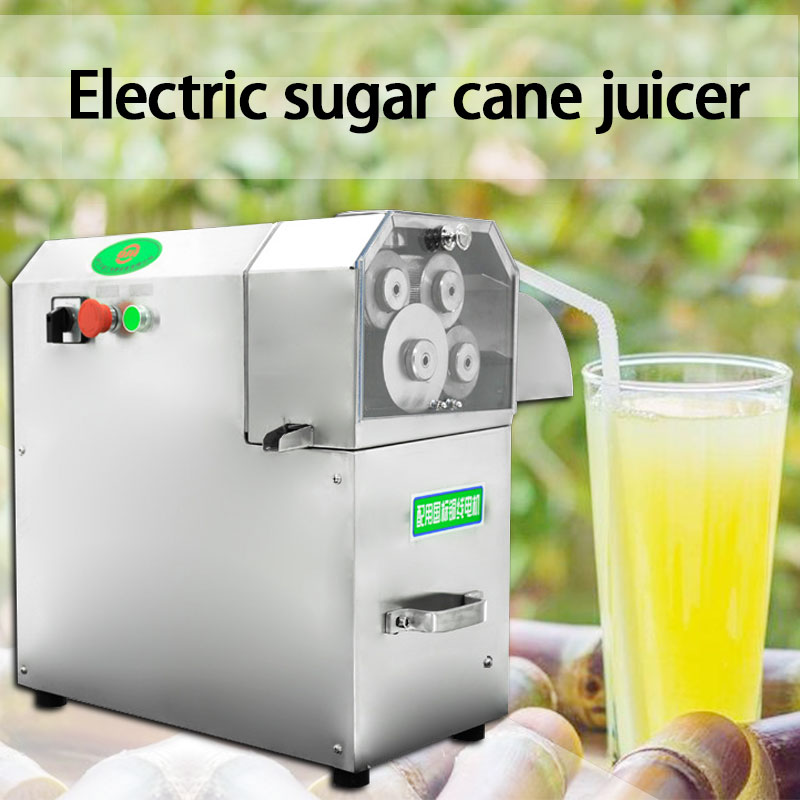 Коммерческая настольная соковыжималка для сахарного тростника из нержавеющей стали, электрическая соковыжималка, свежевыжатая машина