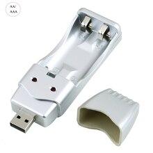 Chargeur USB Portable pour Ni MH NICD AA AAA batterie Rechargeable batterie de charge dispositifs DC1.4V 160mA sortie livraison directe
